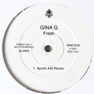 "Gina G ‎- Fresh (Apollo 440 Remix) (12"") (Promo) (VG/NM)"